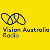 A logo made of interlinked oval shapes sits above the text reading 'Vision Australia Radio'